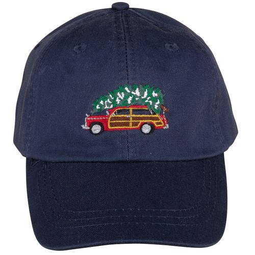 Woodie & Tree Hat   Navy
