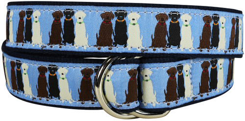 Three Labs (blue) D-ring Belt