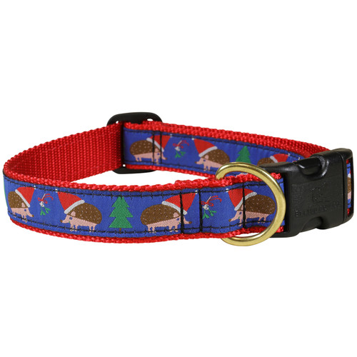 "Holiday Hedgehog 1"" Dog Collar"