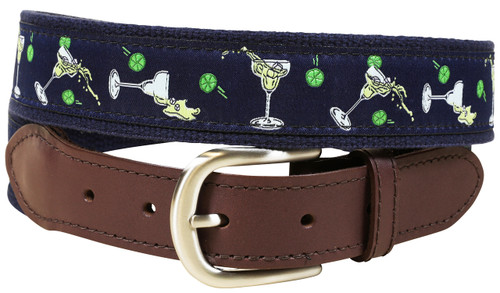 Margarita Leather Tab Belt