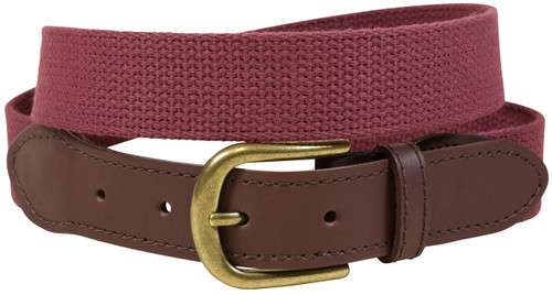 Cotton Webbing Belt | Maroon
