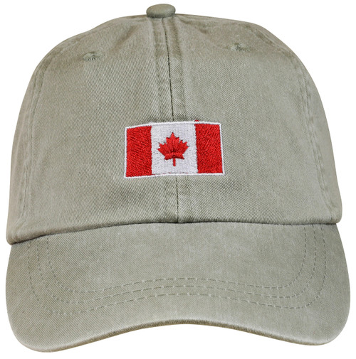 Canadian Flag Hat - Stone