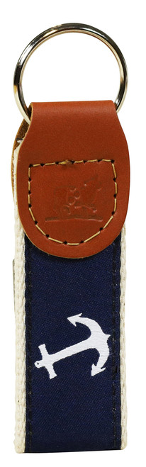 Anchor Key Fob - Navy