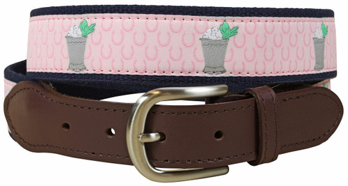 Mint Julep Leather Tab Belt