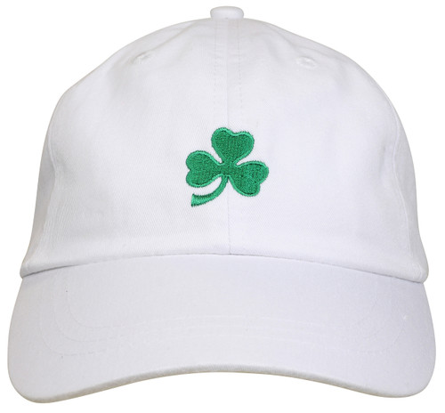 Emerald Shamrock Hat - White