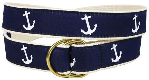 Classic Anchor D-Ring Belt