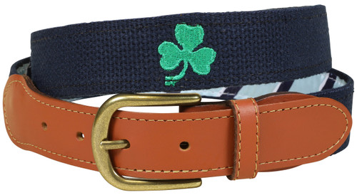Bermuda Embroidered Belt -Shamrock