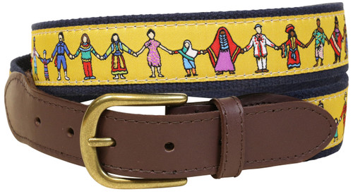 One World Leather Tab Belt