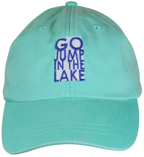 Go Jump In The Lake Hat - Sea Foam