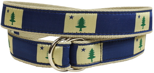 Maine State Flag D-Ring Belt