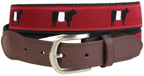 Belted Galloway Leather Tab Belt