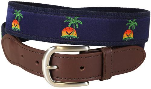 Island Time Leather Tab Belt