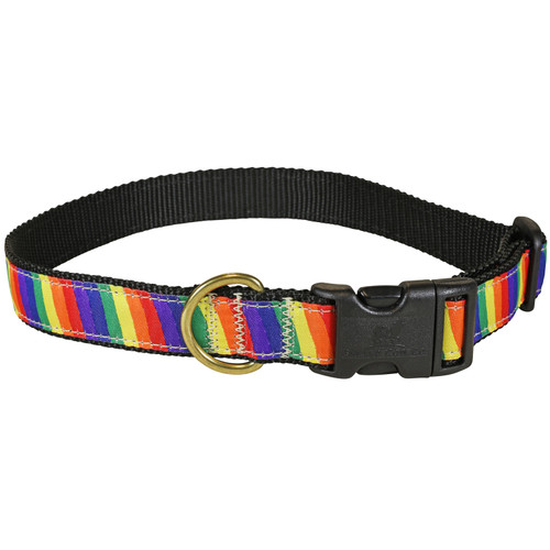 Rainbow Dog Collar - 1 Inch
