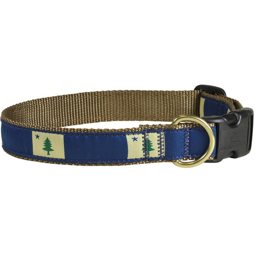 "State of Maine Flag 1"" Dog Collar"