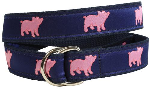 Preppy Pig D-Ring Belt