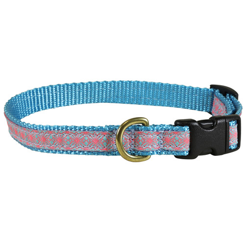 "Geometric Flower 5/8"" Dog Collar"