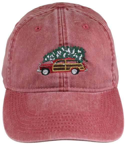 Woodie & Tree Hat - Nautical Red