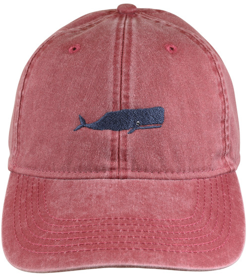 Whale Hat - Nautical Red