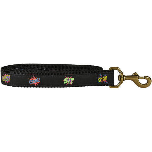 Comic Book Commands Dog Lead | 1 Inch