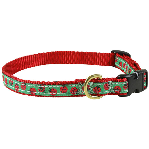 "Lady Bugs 5/8"" Dog Collar"