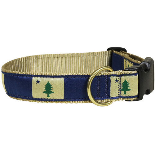 "ME State Flag 1.25"" Dog Collar"