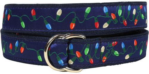Tangled Christmas Lights D-Ring Belt