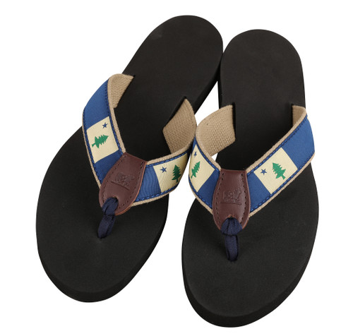 Original Maine Flag Flip Flops