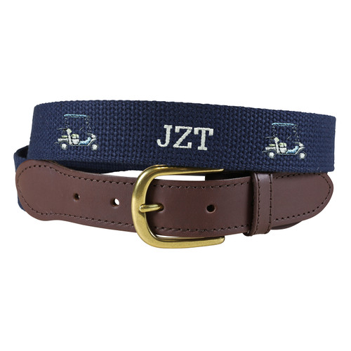 Custom Embroidered Belt - Golf