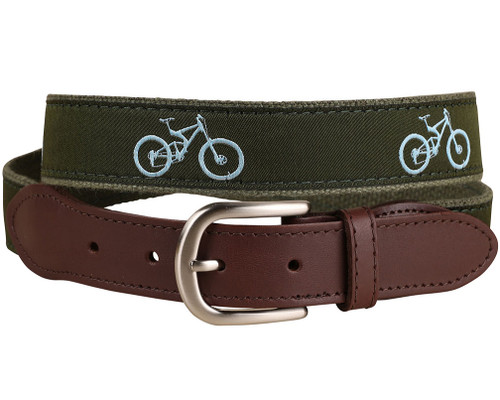 Mountain Bike Leather Tab Belt