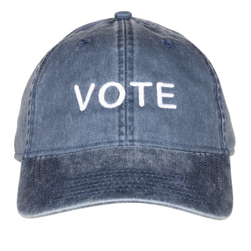 Vote Hat washed navy