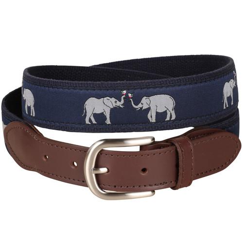 Elephant Leather Tab Belt