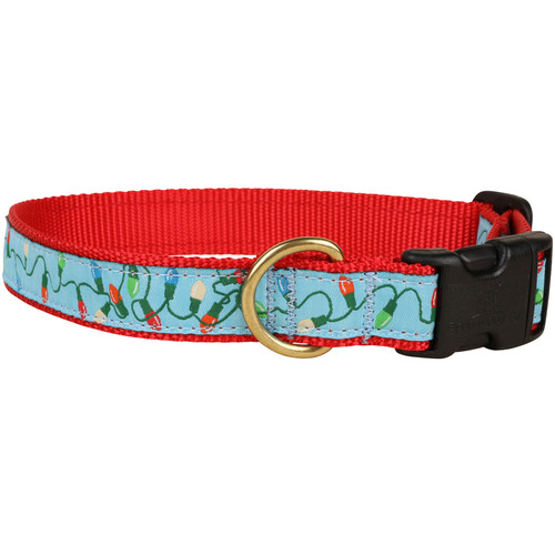 Tangled Holiday Lights Dog Collar - 1 Inch