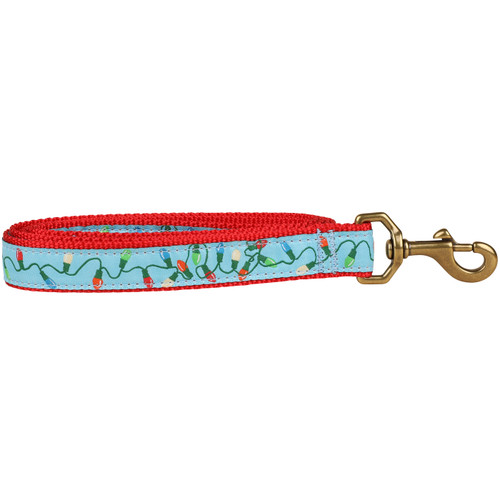Tangled Holiday Lights Dog Leash - 1 Inch