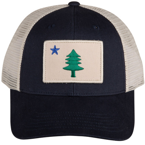Original Maine Flag Patch Trucker Hat
