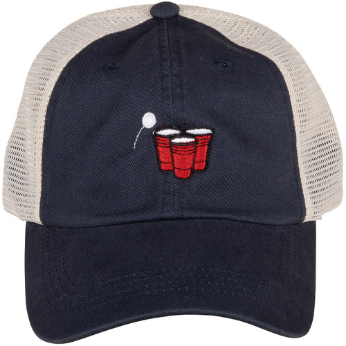 Beer Pong Hat | Navy Trucker