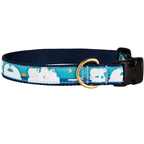Save the Polar Bears Dog Collar | 1 Inch