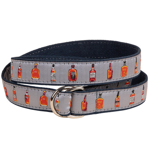 Bourbon Whiskey D- Ring Belt