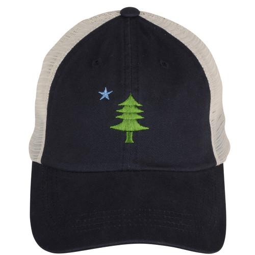 Original Maine Flag Patch Trucker Hat