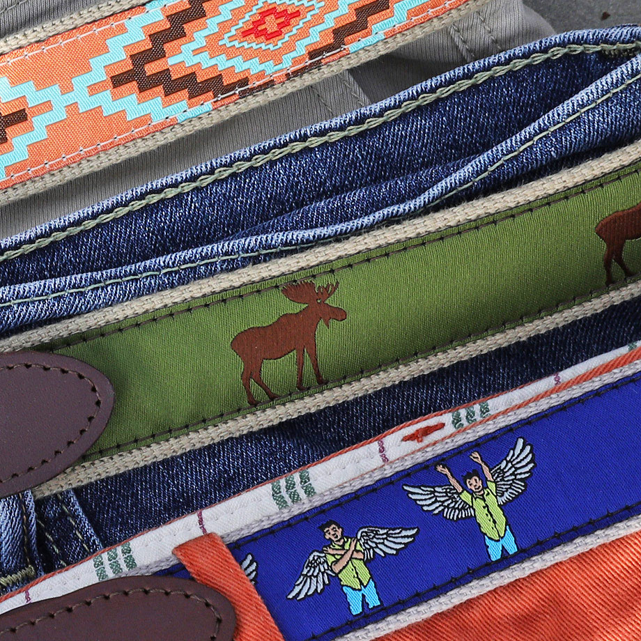 Belted Cow Belts on Display