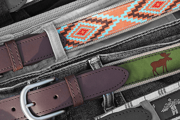 Belts Laid out