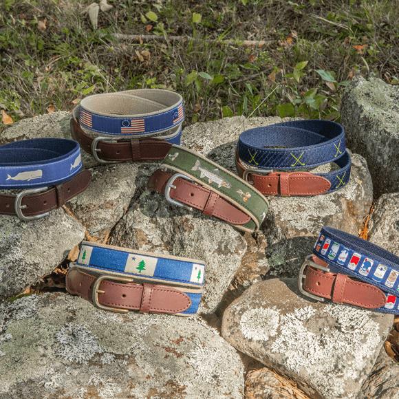 Ribbon belts on rocks