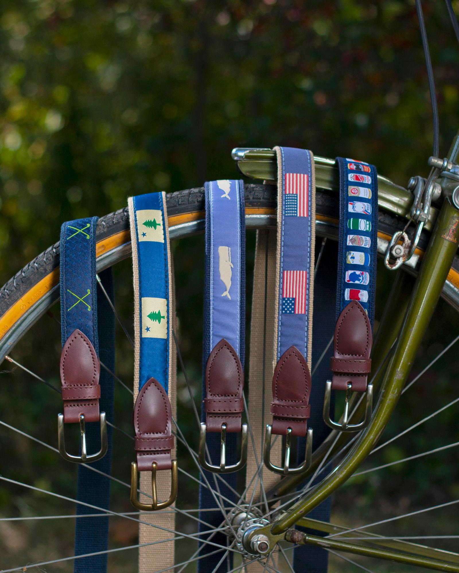 Belts laying on Bike