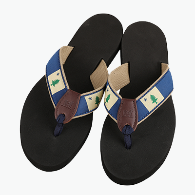 Maine Flag Flip Flops Belted Cow Company