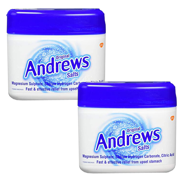 2 x 150g Andrews Original Salts Upset Stomach Indigestion Fast Acting