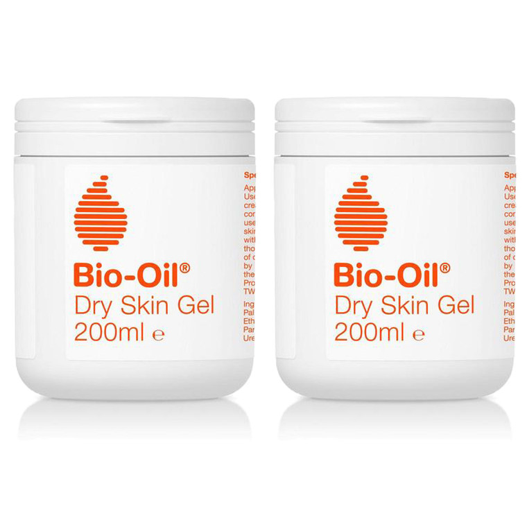 2 x 200ml Bio Oil Skin Gel Moisturiser Dry Dehydrated Sensitive Skin Face Body