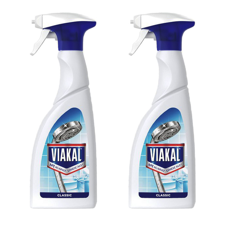 2 x 500ml Viakal Classic All Purpose Cleaner Spray Limescale Remover Bathroom