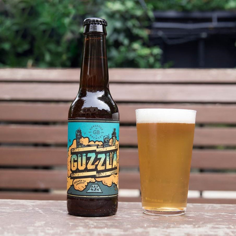 Case of 24 Guzzla Helles Style Lager Beer 4.8%