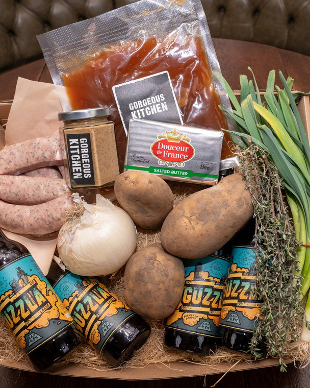 Gorgeous Kitchen Bangers, Mash & Beer Box - Finish at Home