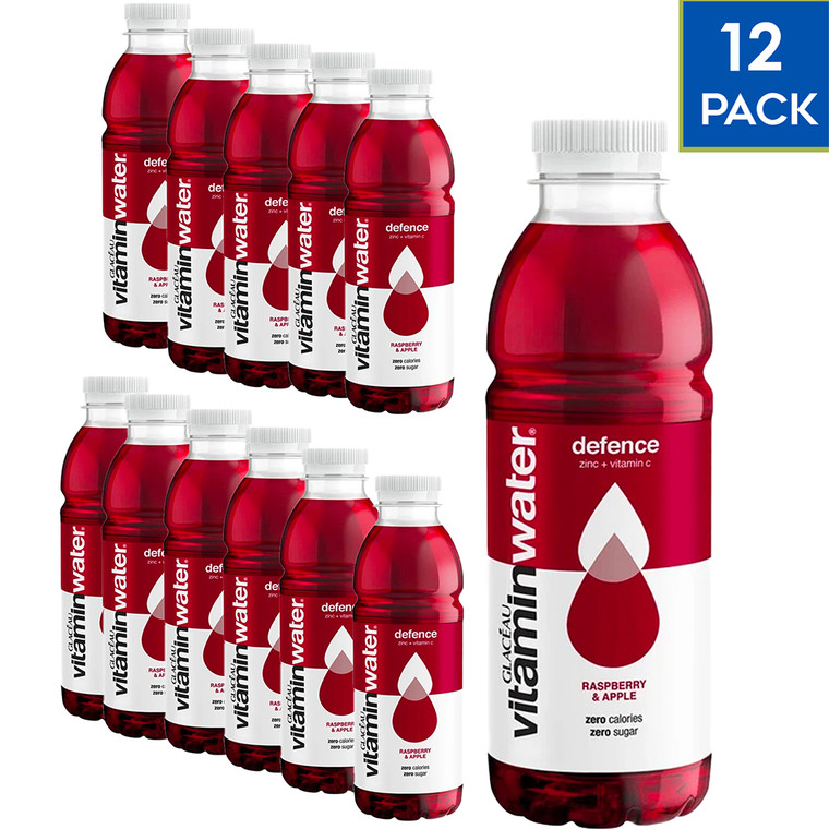 Glaceau Vitamin Water - 12 Pack x 500ml - POWER-C Raspberry Apple