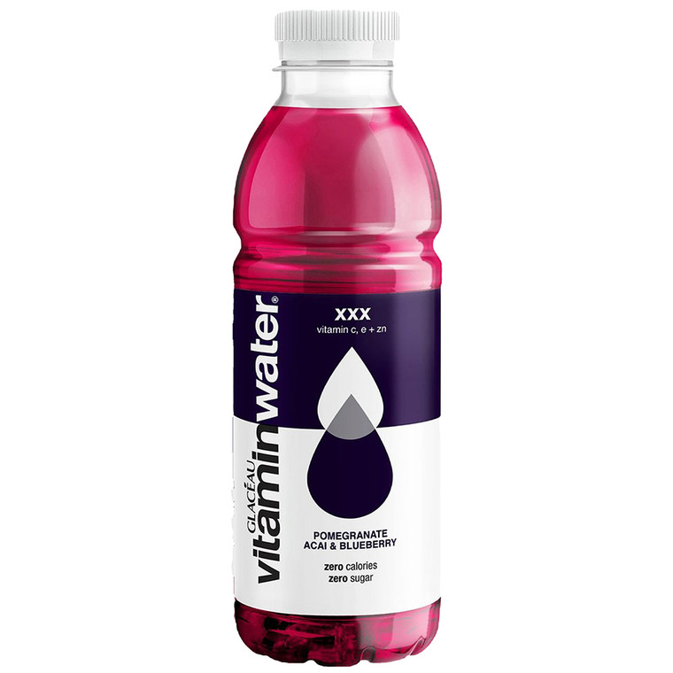 Glaceau Vitamin Water Pomegranate Accai Blueberry Sugar Free Drink Zero kcal